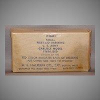 Small US Army Carlisle Model First-Aid Dressing 1942