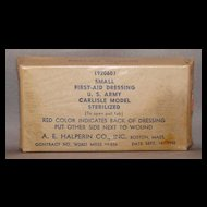 Small US Army Carlisle Model First-Aid Dressing 1942
