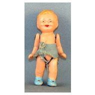 Painted Ceramic Boy Doll with Wired Joints Germany