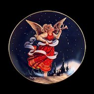Trumpeter's Call Collector Plate from the Renaissance Angels Series by Lynn Bywaters