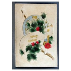 Embossed Christmas post card made in Germany