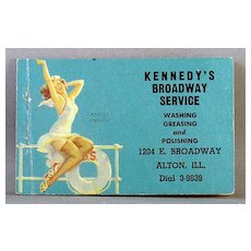 1943 Advertising Note Pad Kennedy's Broadway Service Ankles Aweigh by Elvgren