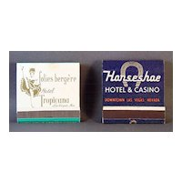 Las Vegas Match Books  Tropicana Hotel and Horseshoe Casino