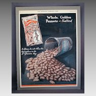 Planters Pennant Brand Peanuts 1921 Advertising