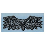 Battenburg black lace collar