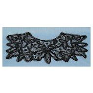 Battenburg black lace collar