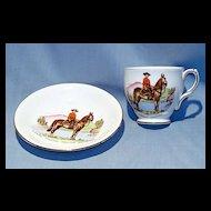 Royal Canadian Mounted Policeman English bone china cup and saucer Taylor and Kent