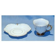 Demitasse cup and leaf-shaped saucer Japan