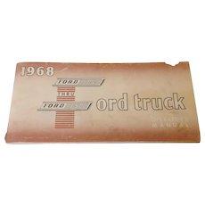 Original 1968 Ford F100 thru F350 Truck Operator's Manual