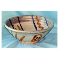 Artist signed art pottery bowl