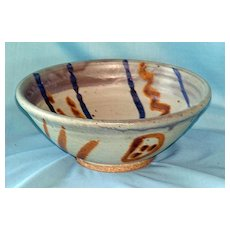 Artist signed art pottery bowl