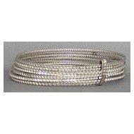 Vintage faux stone stacked bangle bracelet