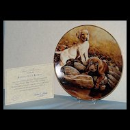 """Butterscotch and Brownie"" Larry Chandler Puppy Portrait Collection by Lenox Labrador Retrievers"