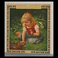 Calendar art 1933 Western and Southern Life Ins. Co.  Girl and  Blue Bird