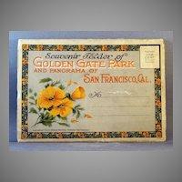1915 Souvenir Postcard Folio of San Francisco and Golden Gate Park