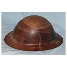 Old miner's helmet