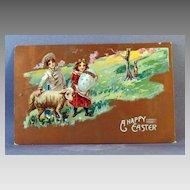 1911 Easter Shepherds, Lamb, Rabbit and Egg