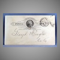 1890 Cleveland Cincinnati Chicago and St. Louis Railway freight due bill
