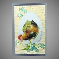 1907 Postcard Best Easter Wishes undivided back
