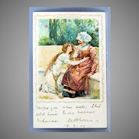 1901 Juliet and the Nurse postcard