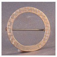 Circle pin gold plated over Sterling marked 925