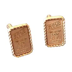 Gold alloy rectangular cuff links 1 gram 14K Gold Filled Simmons