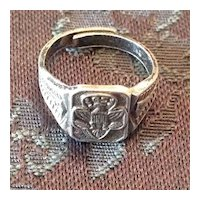 Vintage sterling silver Girl Scout ring
