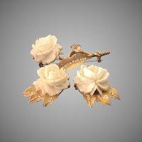 BSK Rose Earrings and Pin set