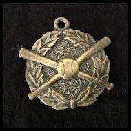 Vintage baseball award medal