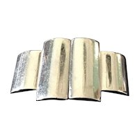Silver tone French cape clasp