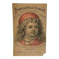 Victorian Trade Card Rumford Yeast Powder