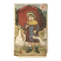 Victorian Trade Card James Pyles Pearline Washing Compound. Highways Robbery