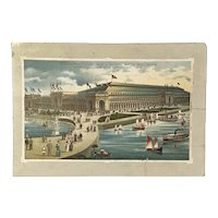 Victorian Trade Card Jersey Coffee World's Fair Views. 1893 Columbian Exposition