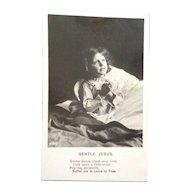 Bamforth's real photo postcard  Gentle Jesus