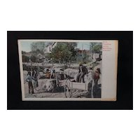 Unused undivided back postcard Black Americana Weighing Cotton Morrillton, Arkansas