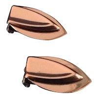 Renoir Copper Shield Earrings