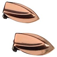 Renoir Copper Shield Earrings