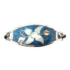 Alpaca Silver Bracelet with abalone, mother of pearl and enamel