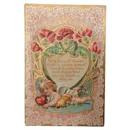 Lacy Valentine with Cupid and poem