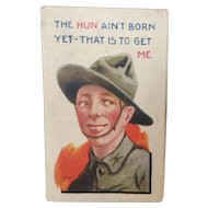 "Bernhardt Wall World War I Postcard ""The Hun Ain't Born Yet..."""
