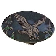 Green Enamel Eagle Belt Buckle Indiana Metal Crafts