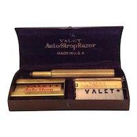 Valet Auto-Strop Razor and original blades in metal promotional case