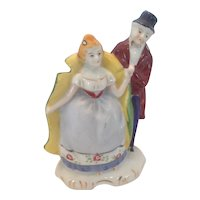 Occupied Japan bisque figurine of courtly couple