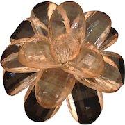 Vintage big pale pink lucite flower pin