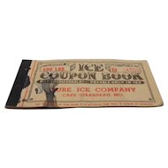 1952 Ice Coupon Book, Pure Ice Company, Cape Girardeau, MO