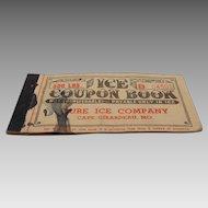 1952 Ice Coupon Book, Pure Ice Company, Cape Girardeau, MO