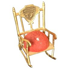 Missouri Souvenir Rocking Chair Pin Cushion