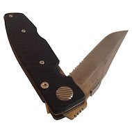 Gerber International ATS34 Folding Knife Michael L. Walker Design. First Production Run
