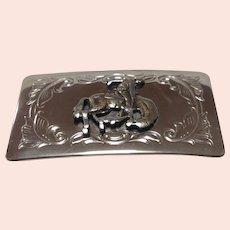 Rodeo Cowboy motif belt buckle