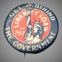World War I Liberty Loan Pin Back Button